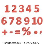 set of vector numbers from 1 to ... | Shutterstock .eps vector #569795377