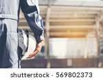 construction engineer in safety ...   Shutterstock . vector #569802373