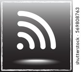 wireless sign icon  vector... | Shutterstock .eps vector #569808763