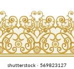 seamless pattern. golden... | Shutterstock . vector #569823127