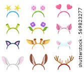 animals mask collection with... | Shutterstock .eps vector #569823277