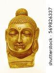 golden face of lord buddha | Shutterstock . vector #569826337