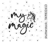 My Magic. Cute Motivation Card...