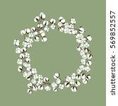vector hand drawn wreath of... | Shutterstock .eps vector #569852557