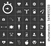 timer. health icon set on gray...