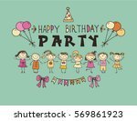 poster for the birthday... | Shutterstock .eps vector #569861923