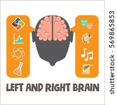 activate your brain poster.... | Shutterstock .eps vector #569865853