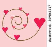 pink heart | Shutterstock .eps vector #569868817
