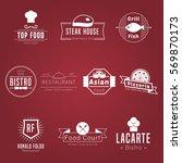 restaurant or food truck white... | Shutterstock .eps vector #569870173