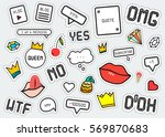 patch fashion collection.... | Shutterstock . vector #569870683