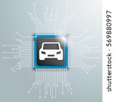 infoggraphic with car and... | Shutterstock .eps vector #569880997