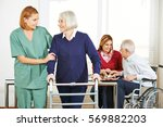 home nursing care for senior... | Shutterstock . vector #569882203