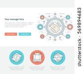 flat line business concept web... | Shutterstock .eps vector #569894683