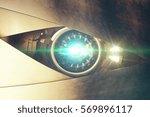 Metallic Blue Robotic Eye With...