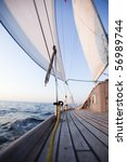 white sails | Shutterstock . vector #56989744