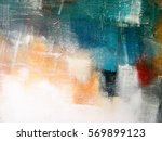 painted canvas texture. colors... | Shutterstock . vector #569899123