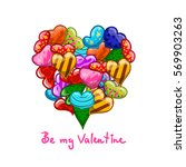 valentine greeting card with...