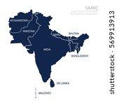 map of south asian association... | Shutterstock .eps vector #569913913