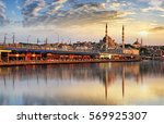 panorama of istanbul at a... | Shutterstock . vector #569925307