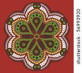 ornamental round lace flower | Shutterstock . vector #56993920