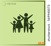 family vector icon | Shutterstock .eps vector #569940073