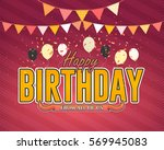 multicolored happy birthday... | Shutterstock .eps vector #569945083