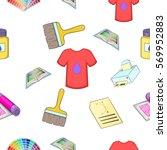printer pattern. cartoon... | Shutterstock .eps vector #569952883