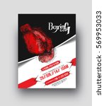 boxing competition flyer ... | Shutterstock .eps vector #569953033