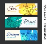 banners with hand drawn... | Shutterstock .eps vector #569954923