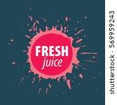 juice splash vector sign.... | Shutterstock .eps vector #569959243