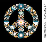 peace sign pacifism symbol... | Shutterstock .eps vector #569965717