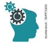 head cogs rotation glyph... | Shutterstock . vector #569971603