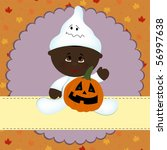 blank template for halloween... | Shutterstock .eps vector #56997638