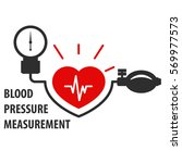 blood pressure measurement icon ... | Shutterstock .eps vector #569977573