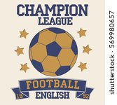 english football typography.... | Shutterstock .eps vector #569980657