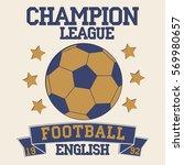 english football typography.... | Shutterstock .eps vector #569980657