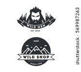 wild hipster vintage 2 logo set ... | Shutterstock .eps vector #569987263