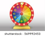 colorful wheel of luck or... | Shutterstock .eps vector #569992453