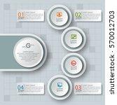vector abstract 3d paper... | Shutterstock .eps vector #570012703