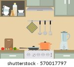 fragment of an interior of... | Shutterstock .eps vector #570017797