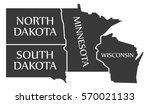 north dakota   south dakota  ... | Shutterstock .eps vector #570021133