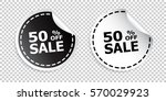 sale sticker. sale up to 50... | Shutterstock .eps vector #570029923