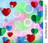 abstract love  background with...   Shutterstock .eps vector #570030157