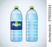 realistic bottle with clean... | Shutterstock .eps vector #570032263