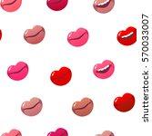 vector seamless pattern tile.... | Shutterstock .eps vector #570033007