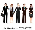 group of office people business ... | Shutterstock .eps vector #570038737