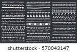 vector hand drawn line border... | Shutterstock .eps vector #570043147