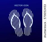 flip flops icon vector... | Shutterstock .eps vector #570052453