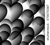 seamless pattern with halftone... | Shutterstock .eps vector #570070387