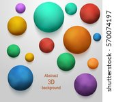 smoky colored 3d sphere.... | Shutterstock .eps vector #570074197